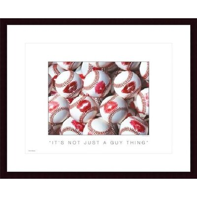 Barewalls It's Not Just a Guy Thing Wood Framed Art Print