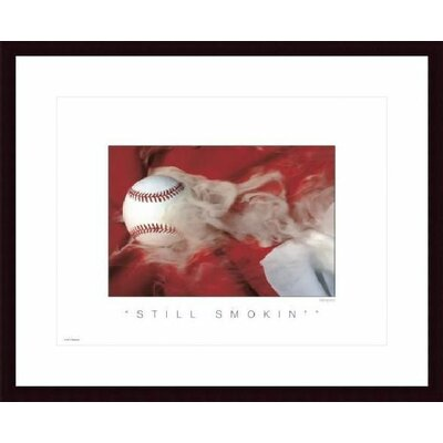 Barewalls Still Smokin Wood Framed Art Print