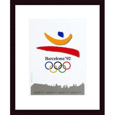Barewalls Barcelona 1992 Wood Framed Art Print