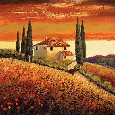 Sunset Over Tuscany II Gallery Wrapped Canvas
