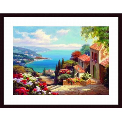 Barewalls Blue Bay II Wood Framed Art Print