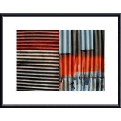 Corrugated Metal Collage Metal Framed Art Print
