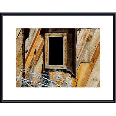 Barewalls Window and Siding Abstract Metal Framed Art Print