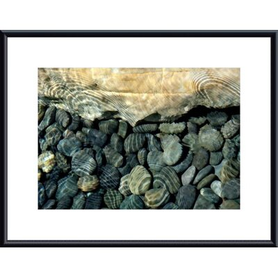 Barewalls Rock, Pebbles and Water Metal Framed Art Print