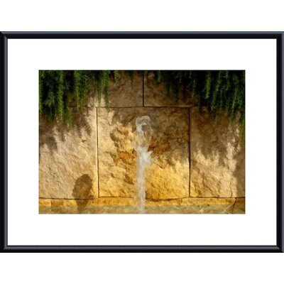Barewalls Water, Rock and Rosemary Metal Framed Art Print