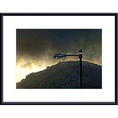 Barewalls Bird, Lamp and Morro Rock Metal Framed Art Print