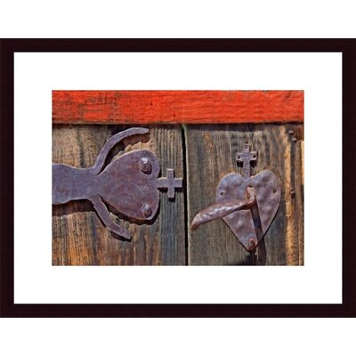 Barewalls Hinge and Handle Wood Framed Art Print
