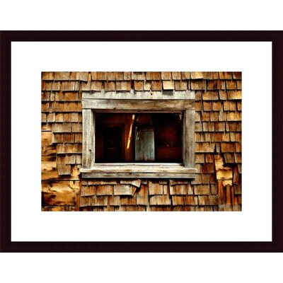 Barewalls Shingle Siding and Window Wood Framed Art Print