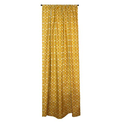 Elisabeth Michael Trellis Cotton Rod Pocket Curtain Single Panel
