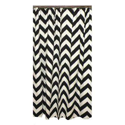 Elisabeth Michael Gray Chevron Cotton Shower Curtain | Wayfair
