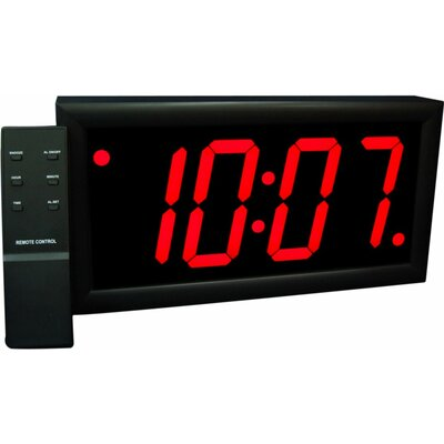 "Big Time Clocks Jumbo 4"" Numbers LED Digital Alarm Clock with Remote"