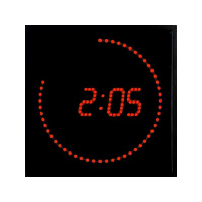 Big Time Clocks Super Bright LED Digital Square Dot Clock