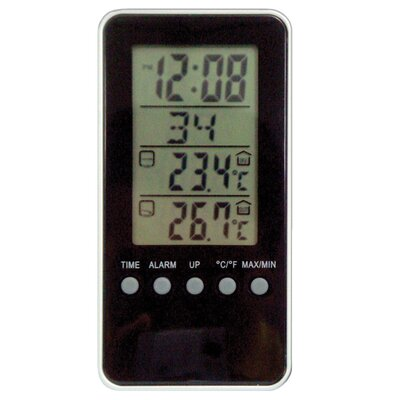 Geneva Clock Elgin Weather Station LCD Alarm Clock