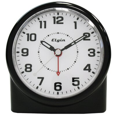 Elgin Battery Analog Alarm Clock with Smartlite Technology