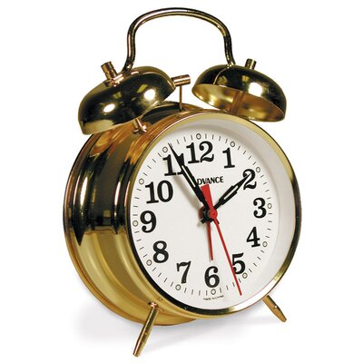 Geneva Clock Advance Keywind Alarm Clock