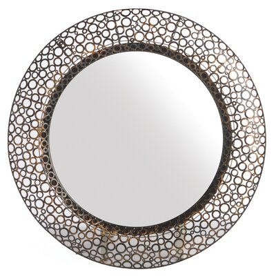 Woven Accents Metal Washer Mirror Round