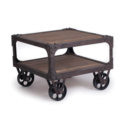 End tables wayfair buy online ship free for Rustic industrial end table