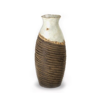 Blue and Brown Distressed Vase