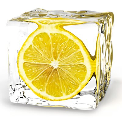 Deco Glass Iced Lemon Wall Decor