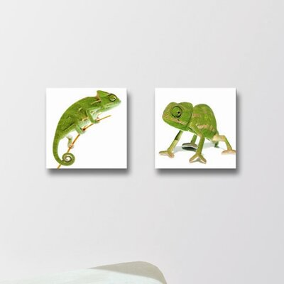 Deco Glass Lizards Wall Decor (Set of 2)