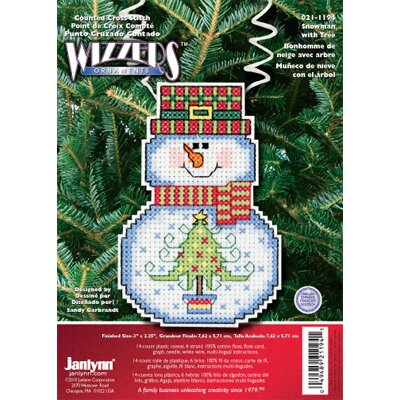 Janlynn Snowman with Tree Counted Cross Stitch