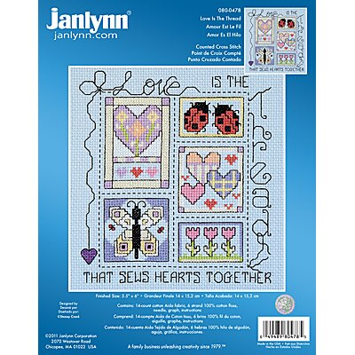 Janlynn Love Is The Thread Counted Cross Stitch