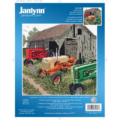 Janlynn Auction Day Counted Cross Stitch