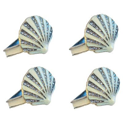 Rennie & Rose Design Group Coastal Shell Napkin Rings (Set of 4)