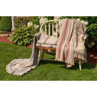 Rennie & Rose Design Group Vintage Hathaway Cotton Stripe Throw Blanket