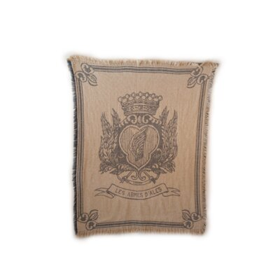 Rennie & Rose Design Group Vintage Hagen Cotton Throw Blanket with Emblem