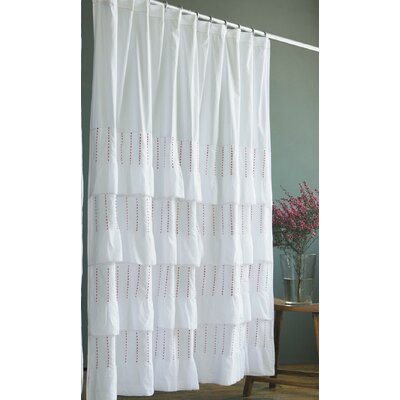 terry cloth shower curtain. India Rose Pintuck Cotton Shower Curtain  Wayfair Curtains Online Inventrush