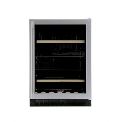 Marvel Appliances Luxury Dual-Zone Beverage and 14-Bottle Wine Refrigerator