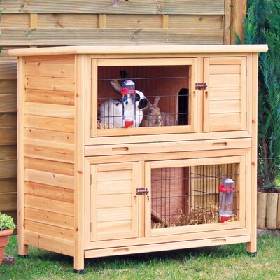 Trixie Pet Products Natura 2-Story Small Animal Hutch