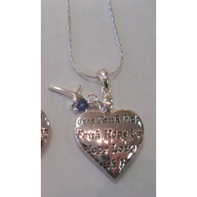 Chrisha Inspirational Heart Shape Pendant Necklace