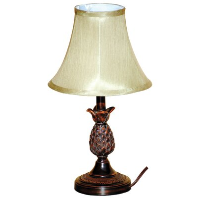 "Santa's Workshop Pineapple 18"" H Table Lamp with Bell Shade"