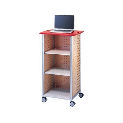Peter Pepper Wheelies® AV Media Cart with An Open Front and 2 Adjustable Shelves