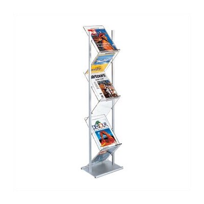 Peter Pepper Freestanding Zig-Zag Magazine & Literature Rack