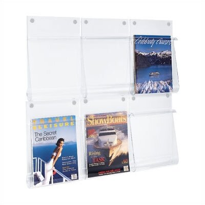"Peter Pepper One Pocket Clear Acrylic ""Spring Front"" Magazine/Literature/Chart Holder"