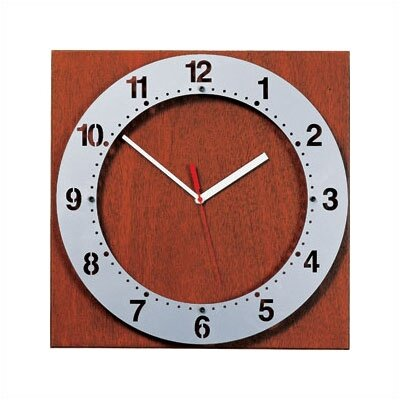 Peter Pepper Floating Face Wall Clock with Square Back