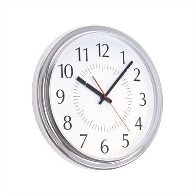 "Peter Pepper 14"" Diameter Modern Wall Clock with Acrylic Cover"