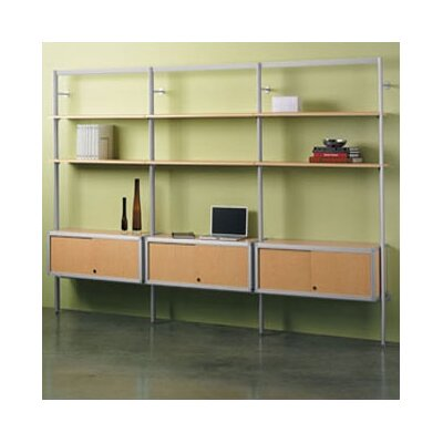 "Peter Pepper Envision® 84"" H Shelving System with Optional Credenza and Book End Kit"