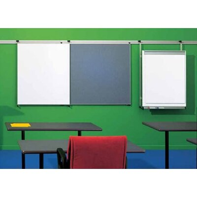 Peter Pepper Tactics Plus® Aluminum Wall Track with Display Rail and Writing Surface Kit