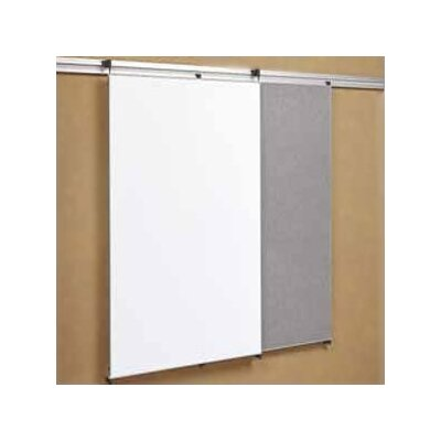 "Peter Pepper Tactics Plus® Track Mounted Fabric Tackable Panel/Writing 3'6"" x 3' Whiteboard"