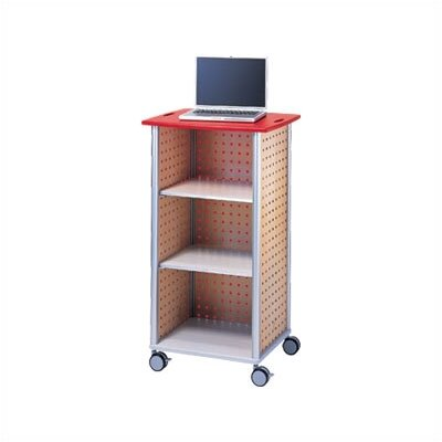 Peter Pepper Wheelies® AV/ Media Cart with An Open Front and Two Adjustable Shelves