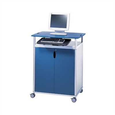 Peter Pepper Wheelies® Workstation with Locking Doors and Two Adjustable Shelves