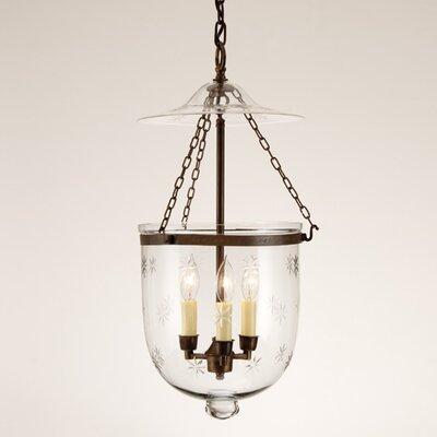 jvi designs 3 light large bell jar foyer pendant with star glass. Black Bedroom Furniture Sets. Home Design Ideas