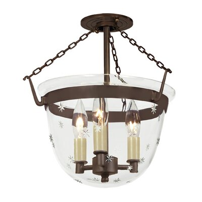 JVI Designs 3 Light Small Bell Foyer Pendant
