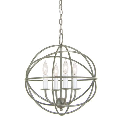 4 Light Globe Chandelier