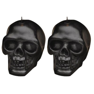Biedermann and Sons Skull Candles (Set of 2)