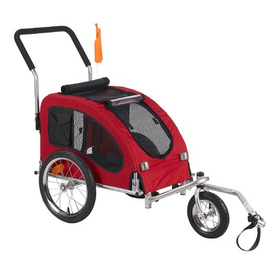 Merske Comfy Dog Bike Trailer with Stroller Kit
